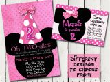 Minnie Mouse 2nd Birthday Invitations Template Minnie Mouse Birthday Quotes Quotesgram