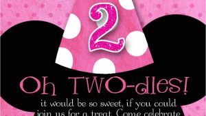 Minnie Mouse 2nd Birthday Invitations Template Minnie Mouse Custom Birthday Printable Disney Invitations