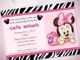 Minnie Mouse Baby Shower Invitation Baby Minnie Mouse Baby Shower Invitations Template