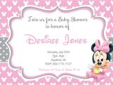 Minnie Mouse Baby Shower Invitation Minnie Mouse Baby Shower Invitations Templates