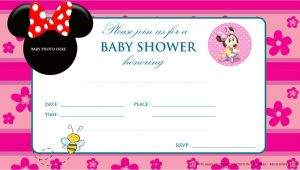 Minnie Mouse Baby Shower Invitations Free Free Printable Mickey Mouse Baby Shower Invitation