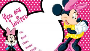 Minnie Mouse Birthday Invitation Template 20 Minnie Mouse Party Invitations Kids Children Quot S Invites