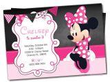 Minnie Mouse Birthday Invitation Template Free Download Awesome Minnie Mouse Invitation Template 21 Free Psd
