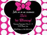 Minnie Mouse Birthday Invitation Template Free Download Editable Free Minnie Mouse Invitation