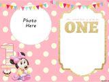 Minnie Mouse Birthday Invitation Template Free Download Free Printable Minnie Mouse 1st Invitation Free