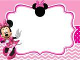 Minnie Mouse Birthday Invitation Template Free Download Minnie Mouse Free Printable Invitation Templates