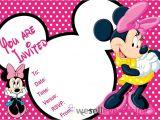"Minnie Mouse Birthday Invitation Templates Free 20 Minnie Mouse Party Invitations Kids Children""s Invites"