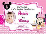 Minnie Mouse Birthday Invitation Templates Free Baby Minnie Mouse 1st Birthday Invitations