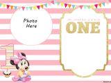 Minnie Mouse Birthday Invitation Templates Free Free Printable Minnie Mouse 1st Invitation Templates