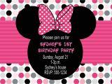 Minnie Mouse Birthday Invitation Templates Free Minnie Mouse Birthday Party Invitations