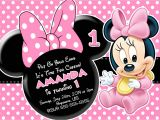 Minnie Mouse First Birthday Invitations Free Free Minnie Mouse First Birthday Invitations Printable