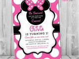 Minnie Mouse First Birthday Invitations Free Minnie Mouse 1st Birthday Invitations