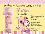 Minnie Mouse First Birthday Invitations Free Minnie Mouse First 1st Birthday Printable Invitation