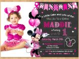 Minnie Mouse First Birthday Invitations Free Minnie Mouse Invitation Minnie Mouse 1st Birthday First Bday