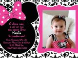 Minnie Mouse First Birthday Invitations Free Printable 1st Birthday Minnie Mouse Invitation
