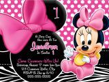 Minnie Mouse First Birthday Invitations Huge Selection Baby Minnie Mouse Invitation by