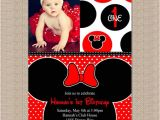 Minnie Mouse First Birthday Invitations Red Minnie Mouse Birthday Party Invitation Pink Minnie by