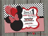 Minnie Mouse First Birthday Invitations Red Red Minnie Mouse Birthday Invitation Printable