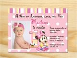 Minnie Mouse First Birthday Invitations Wording Minnie Mouse First Birthday Invitation Printable