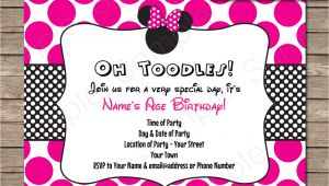 Minnie Mouse Party Invitation Template Minnie Mouse Party Invitations Template Birthday Party