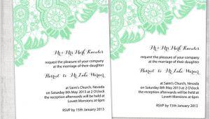 Mint Green Wedding Invitation Template Diy Wedding Invitation Template Editable Mint Green