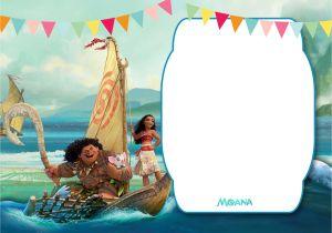 Moana Birthday Party Invitation Template Free Printable Moana 1st Invitation Template – Bagvania
