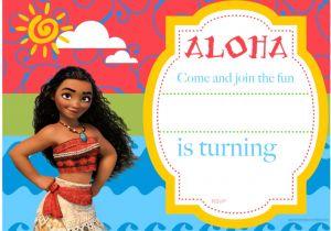 Moana Birthday Party Invitation Template Free Printable Moana Birthday Invitation and Party Ideas
