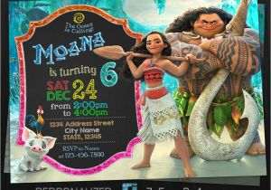 Moana Birthday Party Invitation Template Moana Invitation Moana Birthday Party Moana Birthday