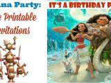 Moana Birthday Party Invitation Template Moana Invitations Free Printable Invitations for A Moana