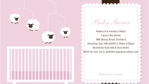 Mobile Baby Shower Invitations Sheep Mobile Baby Shower Invitations