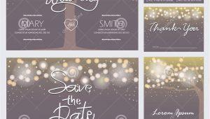 Modern Wedding Invitation Cards Template Vector Modern Wedding Invitation Card Stock Vector Illustration