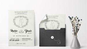 Modern Wedding Invitation Template Modern Wedding Invitation Design Template In Word Psd