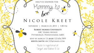 Mommy to Bee Baby Shower Invitations Mommy to Bee Baby Shower Invitation Printable