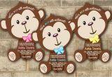 Monkey Baby Shower Invitations for Boys 30 Jungle Monkey Safari Baby Shower Invitations Boy Girl