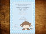 Monkey Baby Shower Invitations for Boys Baby Boy Monkey Baby Shower Invitations 20 5×7