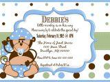 Monkey Baby Shower Invitations for Boys Little Monkey Boy Baby Shower Invitation
