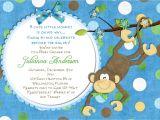Monkey Baby Shower Invitations for Boys Monkey Baby Shower Invitation Baby Boy Shower by 3peasprints