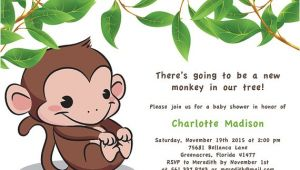 Monkey Baby Shower Invitations Templates Free Monkey Baby Shower Invitations Templates Free