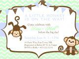 Monkey themed Baby Shower Invitations Printable Baby Shower Invitations Free Printable Baby Shower Monkey
