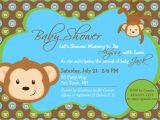 Monkey themed Baby Shower Invitations Printable Monkey Baby Shower Invitation Boy Invitation Monkey Shower