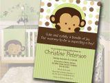 Monkey themed Baby Shower Invitations Printable Monkey Baby Shower Invitation Matches Mod Pod Pop Monkey