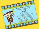 Monkey themed Baby Shower Invitations Printable Monkey theme Personalized Baby Shower Invitations