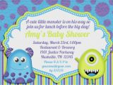 Monster Inc Baby Shower Invites Little Monster Baby Shower Invitation by Amandacreation On