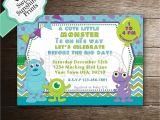Monster Inc Baby Shower Invites Monster Inc Boy Baby Shower Invitation Sully Mike