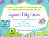 Monster Inc Baby Shower Invites Monsters Inc Baby Shower Invitation by Rockinrompers On Etsy