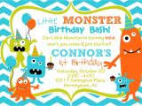 Monster theme Party Invitations Cupcake Monster Bash Birthday Party by Burleygirldesigns