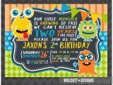 Monster theme Party Invitations Little Monster Birthday Invitation Boy or Girl Birthday