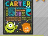 Monster theme Party Invitations Little Monster Birthday Invitation Monster by Wolcottdesigns