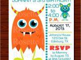 Monster theme Party Invitations Monster Birthday Invitation Set New Design Digital