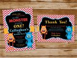 Monster theme Party Invitations Monster themed Birthday Party Invitations Printing by